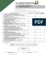 FERIA de CIENCIAS - Fichas de Evaluacion 7259