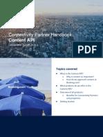 Content API - Connectivity Partner Handbook