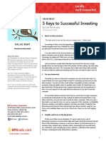 5 Keys to Successful Investing