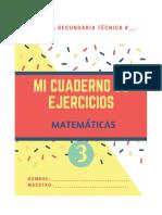 Cuaderno de Ejercicios Matemáticos 3*