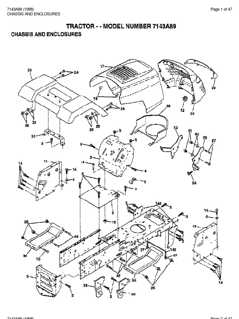 7143A89 (1998) Page 1 of 47 Chassis And Enclosures
