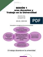 SESION1_Saberes Docentes y Trabalho en La Universidad