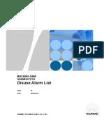 BSC6900 GSM V900R017C10 Disuse Alarm List