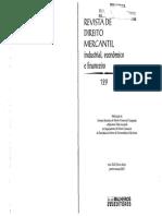 GALGANO, Francesco. Lex Mercatoria. Revista de Direito Mercantil, Industrial, Econômico e Financeiro. p. 224-228