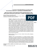 A INCLUSÃO DOS ALUNOS COM DEFICIÊNCIA NA EDUCAÇÃO DE JOVENS E ADULTO - ALGUMAS CONSIDERAÇÕES