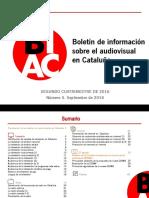 Boletin de Información Sobre El Audiovisual en Cataluña