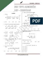 Examen Admisión Ciencias C-001