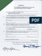 U.S. House Committee on Homeland Security Subpoena of Jim Watkins, owner of 8chan