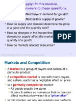 1. Demand, Supply and Market Equilibrium With Examples