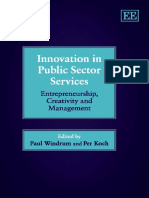 Windrum y Koch Innovation in Public Sector Services- Entrepreneurship, Creativity and Management