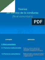 Cambio de Conducta Comunitarios 2012