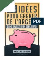 38 Idées Pour Gagner de Largent Sans Investir Un Seul Euro