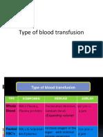 LO 3 Type of Blood Transfusion