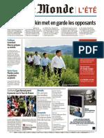 Journal LE MONDE Et Suppl Du Mardi 30 Juillet 2019