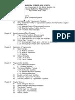 Course Outline for Trigonometry 9