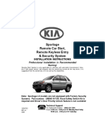Kia Sportage Remote Start