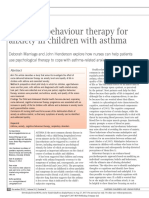!!Cognitive Behaviour Therapy for Anxiety in Children With Asthma