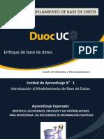 Enfoque de Base de Datos y Sus Caracteristicas Principales