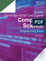 Cambridge IGCSE Computer Science Programming Book for Python