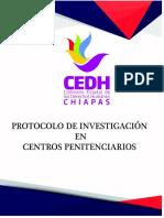 protocolo de investigación en centros penitenciarios en Chiapas