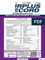 SEPTEMBER 2019 Surplus Record Machinery & Equipment Directory
