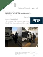 Tarjeta Infromativa - Agosto 2019