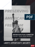 RSC FY 2020 Budget