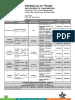 Cronograma de Actividades_Instalaciones Electricas 2019
