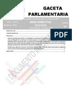 Gaceta Parlamentaria 15 agosto 2019