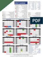 Framingham Public School 2020 Calendar