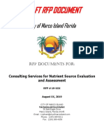 Consulting Services for Nutrient Source Evaluation and Assessment - City of Marco Island