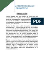 Ventajas y Desventajas de La Ley Administrativa