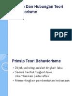 Prinsip Dan Hubungan Teori Behaviorisme