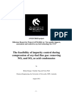 The Feasibility of Impurity Control During Compressión of Oxy-Fuel Flue Gas. Removing NOx and SOx (Ed) [STANGER Et a] [#-(NewCastle Univ); 2012] {44s}