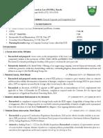 Format of CV