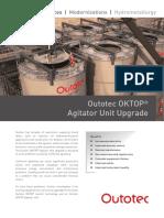 Outotec Oktop Agitator Unit Upgrade