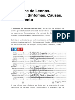 Síndrome de Lennox Gastaut Resumen