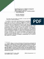 Espaces Géographiques Et Théologiques en Rm 1,1-15 Et 15,14-33