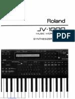 Roland JV-1000 - Synthesizer Manual
