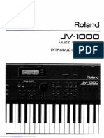 Roland JV-1000 - Introductory Marual