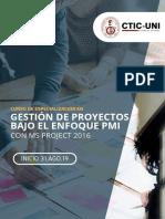 AGO31 CDE Gestin de Proyectos Bajo El Enfoque Del PMI Con Ms Project 2016