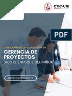 18AGO 5PDE Gerencia de Proyectos Bajo El Enfoque PMBOK CTICUNI2019
