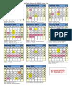 Natick Public School 2019-20 Calendar
