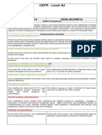 CEFR A2 Objectives