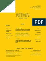 Búho opening menu