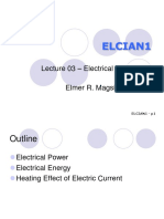 Lecture03 - Electrical Power and Energy