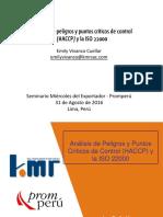 4 Análisis de Peligros y Puntos Críticos de Control (HACCP) y La ISO 22000