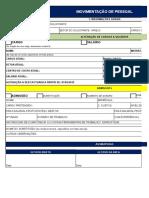 Modelo de Formulário de Movimentação de Pessoal