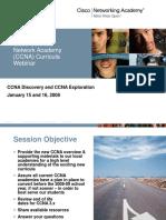 CCNA Webinar Deck Jan0108