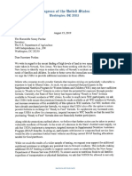 Letter to USDA Re